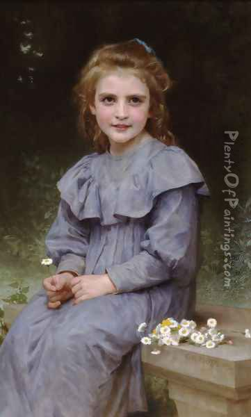 Paquerettes (Daisies) Oil Painting - William-Adolphe Bouguereau