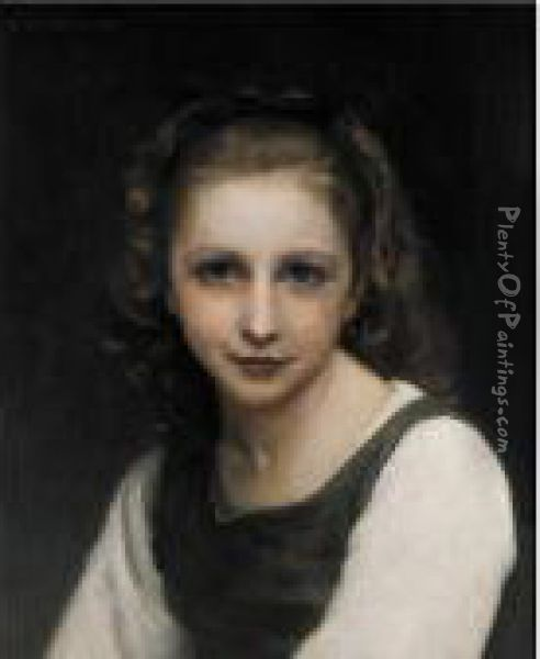 Portrait Of A Young Girl Oil Painting - William-Adolphe Bouguereau