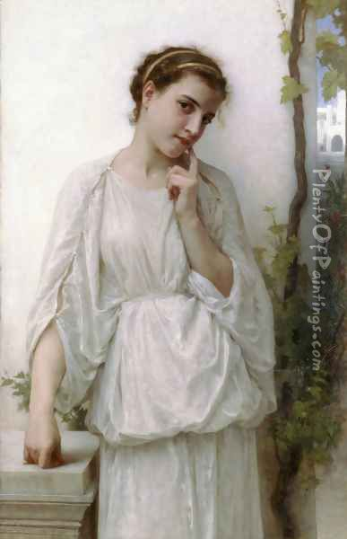 Reverie (Revery) Oil Painting - William-Adolphe Bouguereau