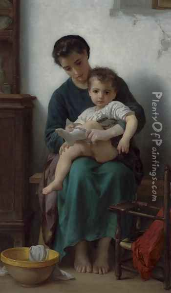 The Big Sister Oil Painting - William-Adolphe Bouguereau