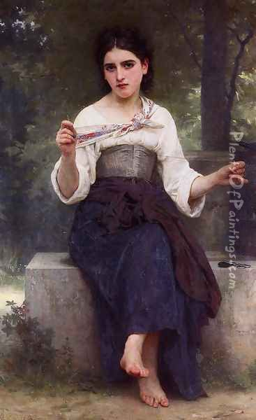 The Dressmaker Oil Painting - William-Adolphe Bouguereau