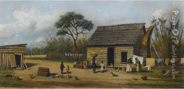 Farm Yard Oil Painting - William Aiken Walker