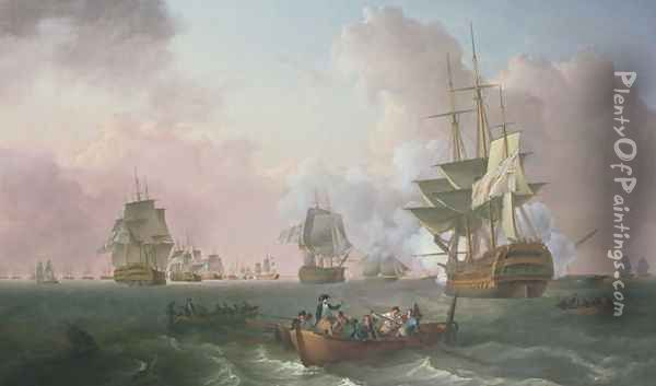 The Battle of the Nile Oil Painting - William Anderson