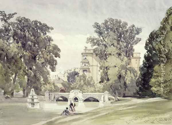 West End of the Serpentine, Kensington Gardens Oil Painting - William Callow