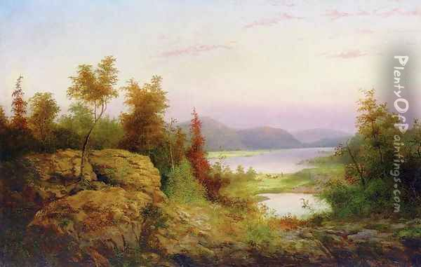 Autumn Landscape Oil Painting - William Charles Anthony Frerichs