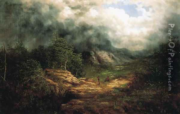 Storm over the Blue Ridge Oil Painting - William Charles Anthony Frerichs