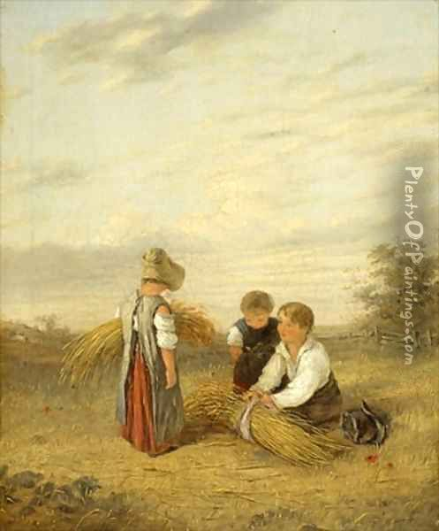 Harvest Time Oil Painting - William Collins