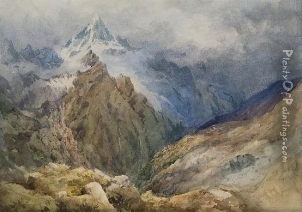 Weisshorn Oil Painting - William Gray