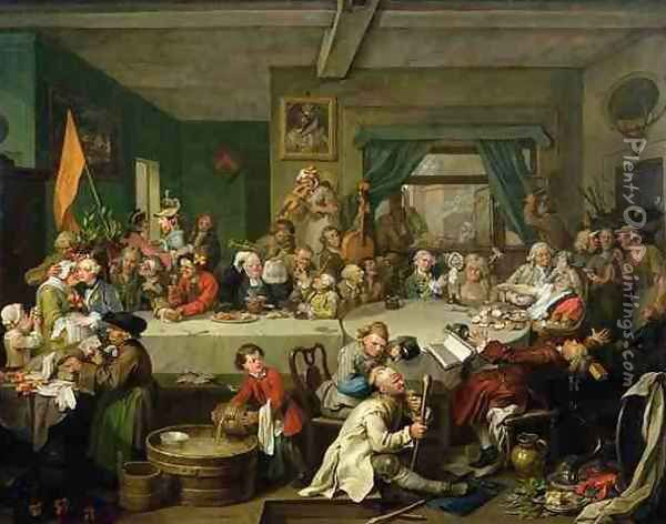 An Election Entertainment Oil Painting - William Hogarth