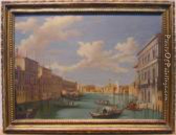 Venetian Canal Oil Painting - William James