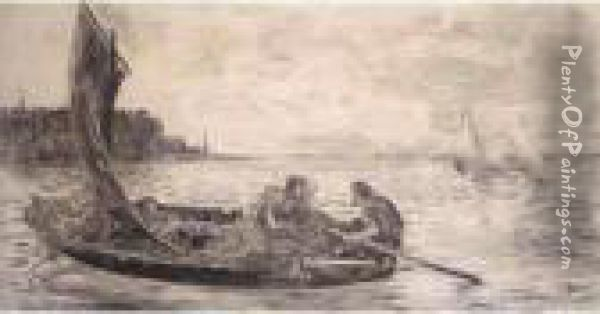 Rowing Out Oil Painting - William McTaggart