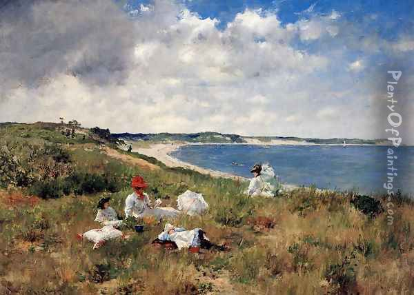 Idle Hours Oil Painting - William Merritt Chase
