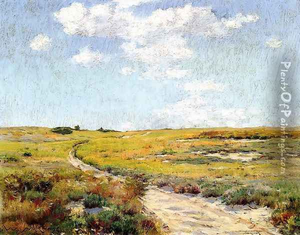Sunny Afternoon Shinnecock Hills Oil Painting - William Merritt Chase