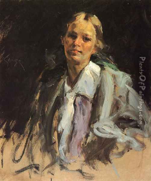 Young Girl Oil Painting - William Merritt Chase