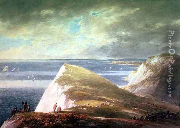 Shakespeares Cliff, Dover Oil Painting - William Payne