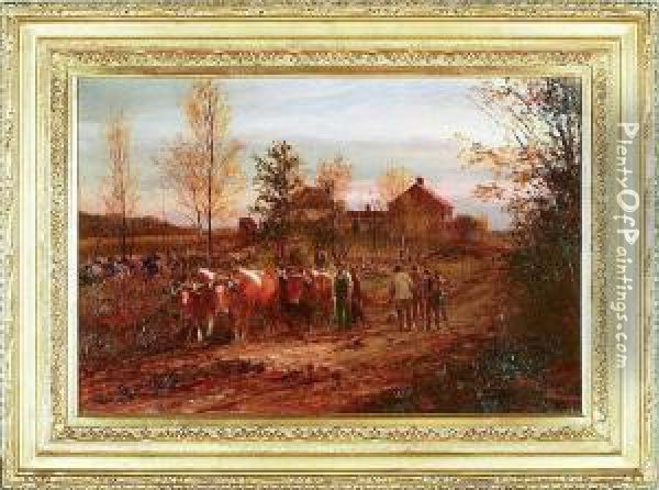 Farm Oil Painting - William Preston Phelps