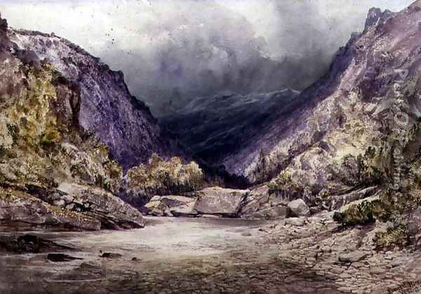 Romsdal, Norway, 1850 Oil Painting - William West