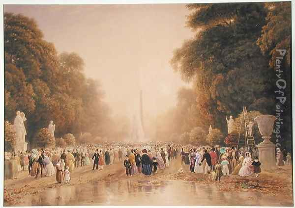 The Tuileries, c.1840 Oil Painting - William Wyld