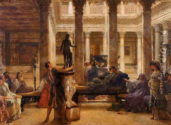 A Roman Art Lover Oil Painting - Sir Lawrence Alma-Tadema