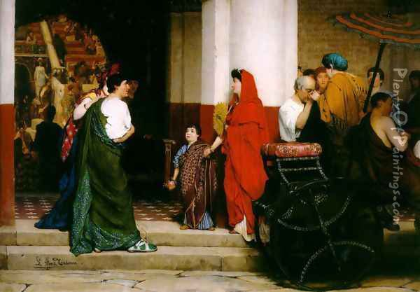 Entrance to a Roman Theatre Oil Painting - Sir Lawrence Alma-Tadema