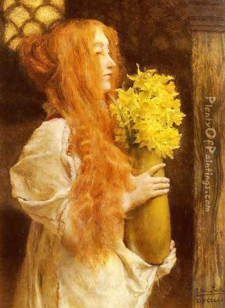 Spring Flowers Oil Painting - Sir Lawrence Alma-Tadema