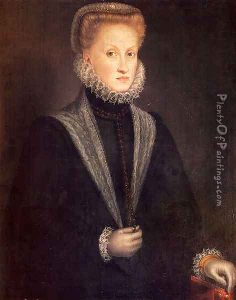 Anne Of Austria, Queen Of Spain Oil Painting - Sofonisba Anguissola
