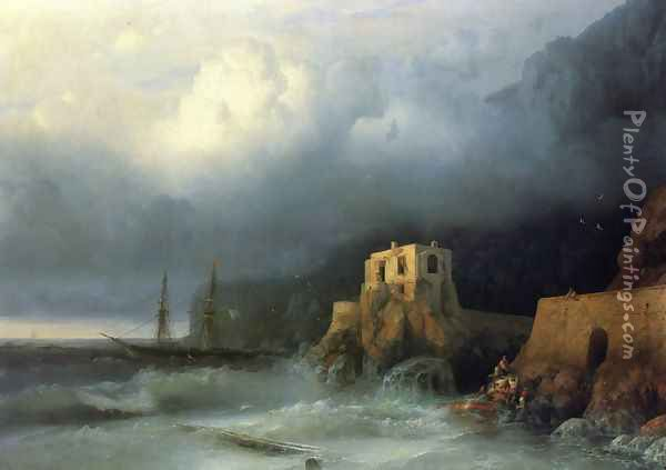 The Rescue I Oil Painting - Ivan Konstantinovich Aivazovsky