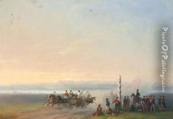 A country track by the Black Sea Oil Painting - Ivan Konstantinovich Aivazovsky