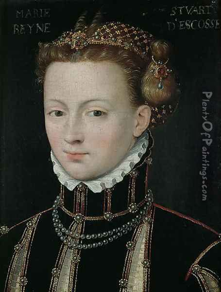 Mary Stuart (1542-87) Oil Painting - Anonymous Artist