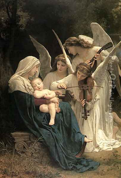 Song of the Angels Oil Painting - William-Adolphe Bouguereau