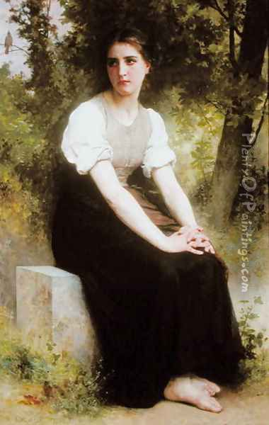 The Song of the Nightingale, c.1895 Oil Painting - William-Adolphe Bouguereau