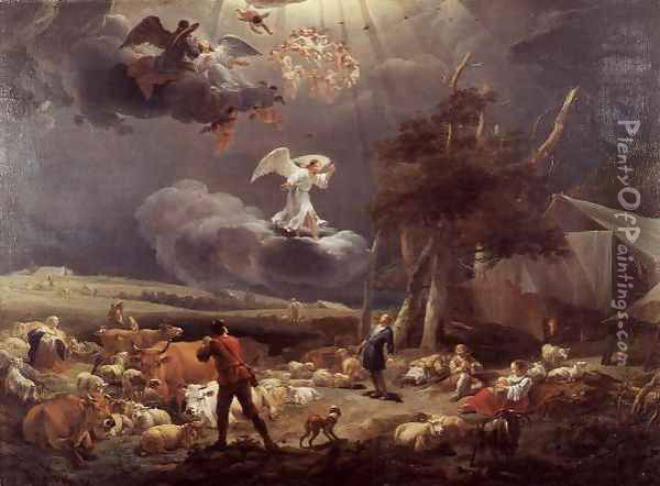 The Annunciation to the Shepherds 1656 Oil Painting - Nicolaes Berchem