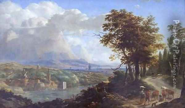 View of the Surrondings of Nice Oil Painting - Nicolaes Berchem