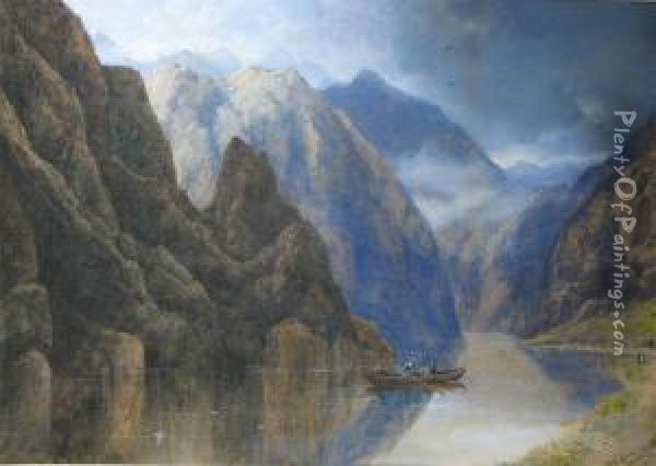 Nord Fijord, Norway Oil Painting - Edgar E. West