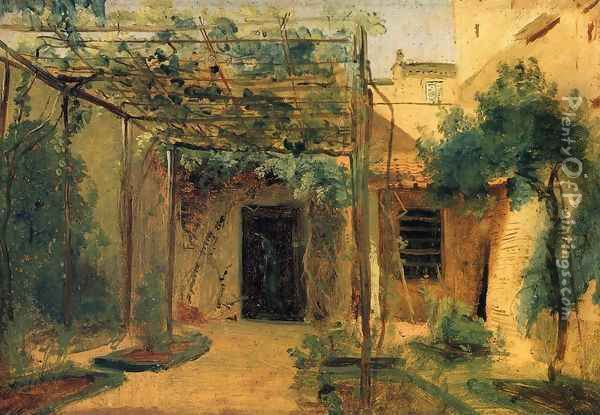 The Studio of the Sculp[tor Rudolf Schadow in Rome Oil Painting - Karl Blechen