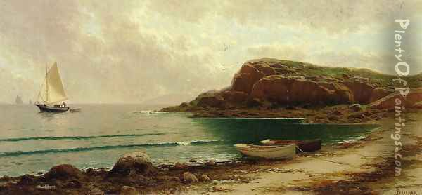 Seascape with Dories and Sailboats Oil Painting - Alfred Thompson Bricher