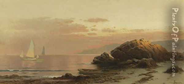 Evening Glow Oil Painting - Alfred Thompson Bricher