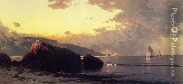Sunset, Bailey Island Oil Painting - Alfred Thompson Bricher
