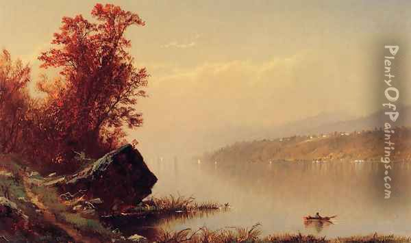 Up the Hudson Oil Painting - Alfred Thompson Bricher