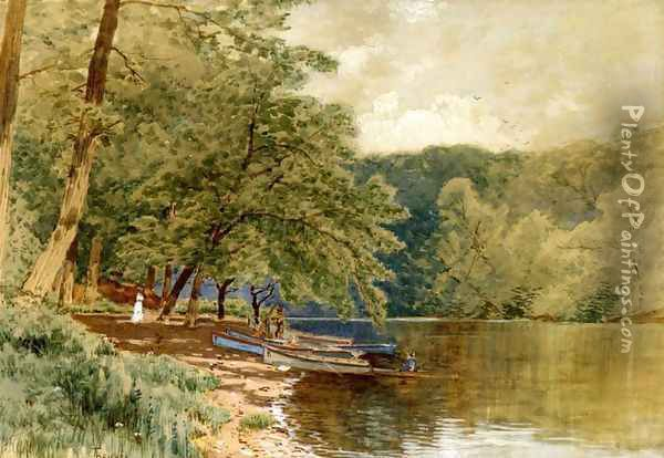 Rowboats for Hire Oil Painting - Alfred Thompson Bricher