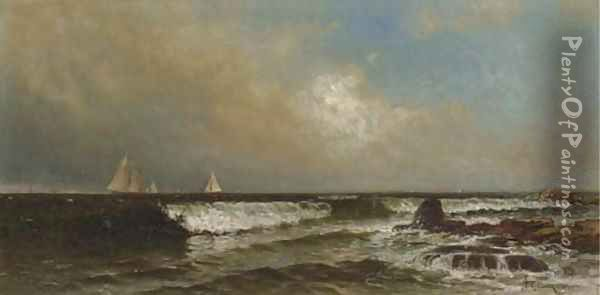 Incoming Tide, Narragansett Oil Painting - Alfred Thompson Bricher