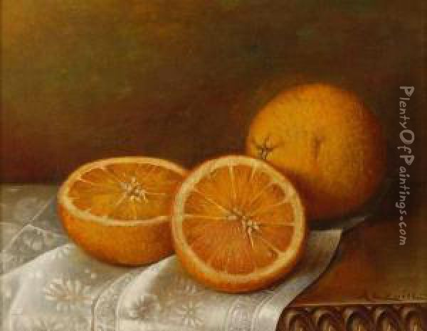 Still Life With Oranges Oil Painting - Abbie Luella Zuill