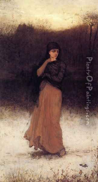 A Wintry Contemplation Oil Painting - George Henry Boughton