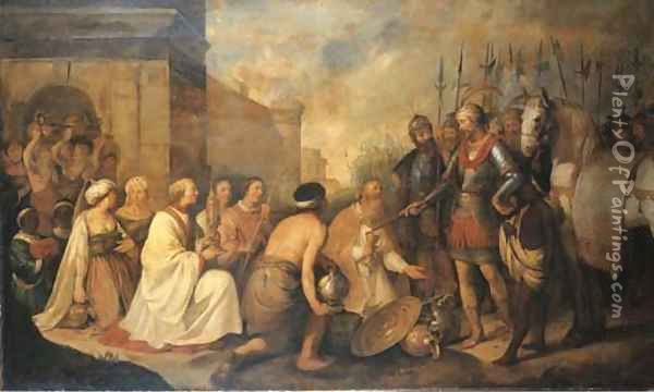 The Meeting of Pope Leo the Great and Attila Oil Painting - Hendrick Bloemaert