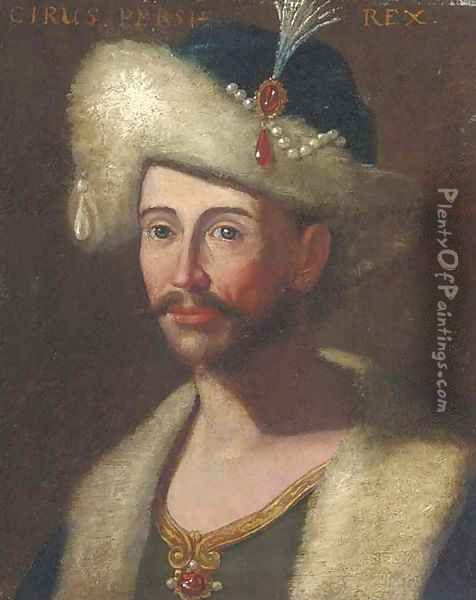 Portrait of King Cyrus of Persia Oil Painting - Giuseppe Bonito