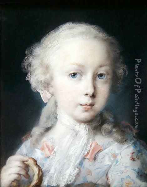 Portrait of a Girl with a Bussola, 1725 Oil Painting - Rosalba Carriera