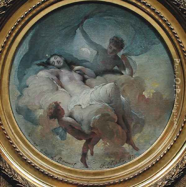 Allegory of the Night, 1874 Oil Painting - Charles Chaplin