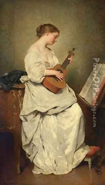 The music girl Oil Painting - Charles Chaplin