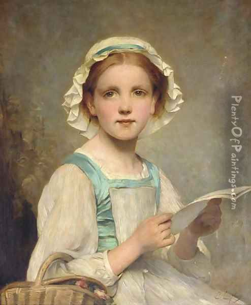 The Letter Oil Painting - Charles Chaplin