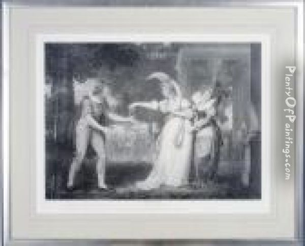 [scenes From Shakespeare's Plays]: Seven Plates And One Mechanicalreproduction Oil Painting - Johann Henry Fuseli